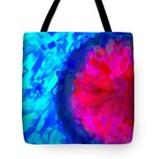 Abstract Art Combination - The Pink Martian Crater, Ca 2017, By Adam Asar ,  In 3d Watercolor Tote Bag
