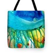 Abstract Art - Journey To Color - Sharon Cummings Tote Bag