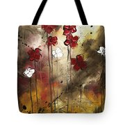 Abstract Art Original Flower Painting Floral Arrangement By Madart Tote Bag