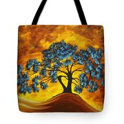 Abstract Art Original Landscape Painting Dreaming In Color By Madartmadart Tote Bag