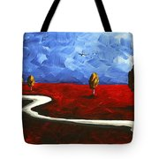 Abstract Art Original Landscape Painting Winding Road By Madart Tote Bag