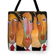 Abstract Art Original Painting - Mad Men Tote Bag by Tom Fedro - Fidostudio