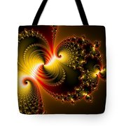 Abstract Art Yellow Golden Red Metal Effect Tote Bag