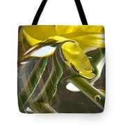 Abstract Artwork Daffodils Flowers 1 Natural Abstract Art Prints Glass Vase Water Art Light Air Tote Bag