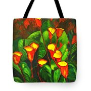 Abstract Arum Lilies Tote Bag