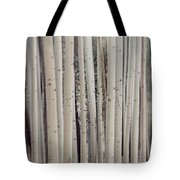 Abstract Aspen Tree Trunks Tote Bag