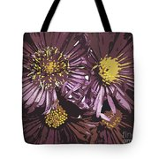 Abstract Aster Flowers Tote Bag