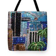 Los Angeles. Rhinestone Mosaic With Beadwork Tote Bag