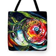 Abstract Baboon Fish Tote Bag