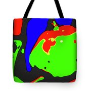 Abstract Baby Apple Tote Bag