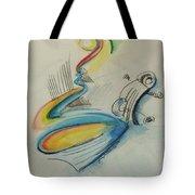 Abstract Bass Tote Bag