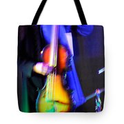 Abstract Bass Player. Tote Bag