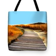 Abstract Beach Dune Boardwalk Tote Bag