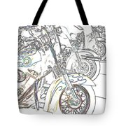 Abstract Bikes Tote Bag