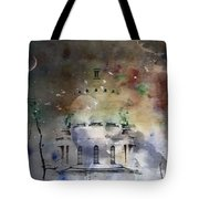 Abstract Birds In A Swirl Of Sky Colors Tote Bag