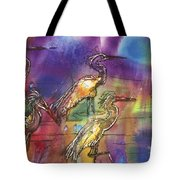 Abstract Birds Tote Bag