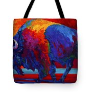 Abstract Bison Tote Bag