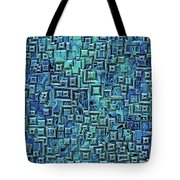 Abstract Blue And Green Pattern Tote Bag