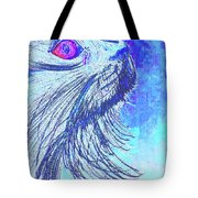Abstract Blue Cat Tote Bag
