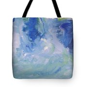 Abstract Blue Reflection Tote Bag