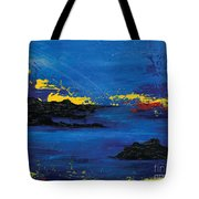 Abstract Blue Sea Tote Bag by Laura Charlesworth