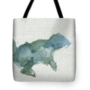 Abstract Blue Squirrel Tote Bag