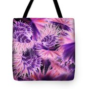 Abstract Burst Of Flowers Tote Bag