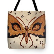 Abstract Butterfly Coffee Painting Tote Bag