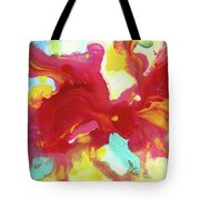 Abstract Butterfly Floral Tote Bag