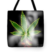 Abstract Cannabis Background Tote Bag