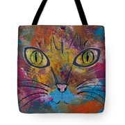 Abstract Cat Meow Tote Bag