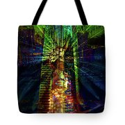 Abstract City In Green Tote Bag