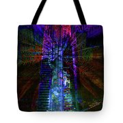 Abstract City In Purple Tote Bag