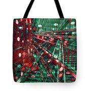 Red Berlin Sound Tote Bag