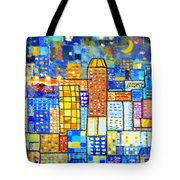 Abstract City Tote Bag