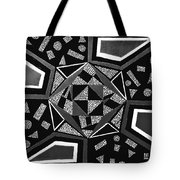 Abstract Cobblestone Blk/wht. Tote Bag