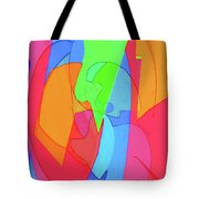 Abstract Color Block  Tote Bag
