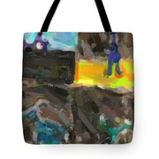 Abstract Color Combination Series - No 9 Tote Bag