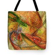 Abstract Color Swirls Tote Bag