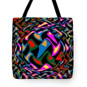 Abstract Colorful Art Exploded View Of Whirlwind At Its Builds On Dry Leaves Tote Bag