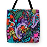Abstract Colorful Floral Design Tote Bag