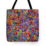 Abstract Colorful Flowers 4 Tote Bag