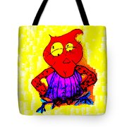 Abstract Colorful Painting Miss Aerobic Owl By Happy Fish Tote Bag