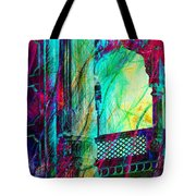 Abstract Colorful Window Balcony Exotic Travel India Rajasthan 1a Tote Bag