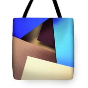 Abstract Composition With Colored Paper Tote Bag