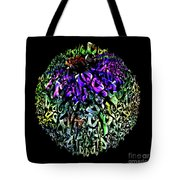 Abstract Cone Flower Digital Painting A262016 Tote Bag