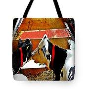 Abstract Cows Tote Bag