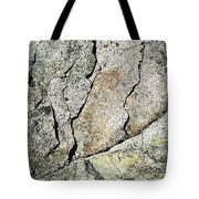 Abstract Cracks On A Granite Block Of Stone Tote Bag