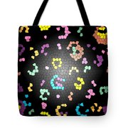 Abstract Creation With Small Shapes Colourful Tote Bag