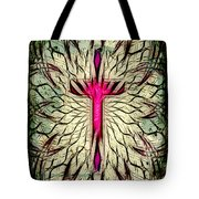 Abstract Cross Tote Bag